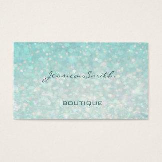 Professional glamorous modern elegant plain bokeh business card