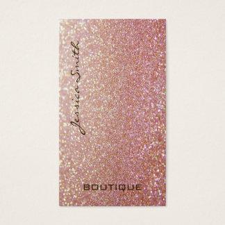 Professional glamourous elegant glittery business card