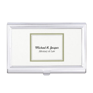 Professional Gold and Black Lawyer Business Card Holder