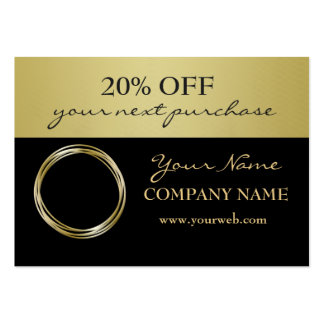 Professional Gold Faux Rings Logo Sales Coupon Pack Of Chubby Business Cards