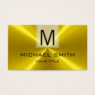 Professional Gold Stainless Steel Metal Monogram Business Card
