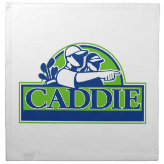 Professional Golfer and Caddie Retro Napkin