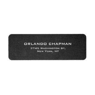 Professional Gray Chalkboard Simple Plain Elegant Return Address Label