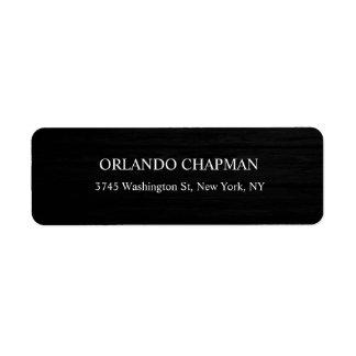 Professional Gray Wood Design Modern Elegant Chic Return Address Label