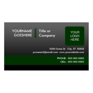 professional green 2 : (2-sided) : pack of standard business cards