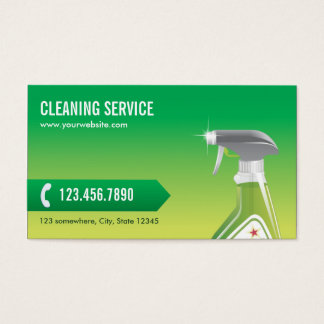Professional Green Cleaning Service Business Card