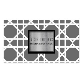 Professional Grey Geometric Smart Pack Of Standard Business Cards