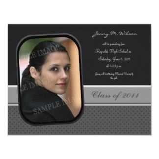 "Professional Grey 4.25"" X 5.5"" Invitation Card"
