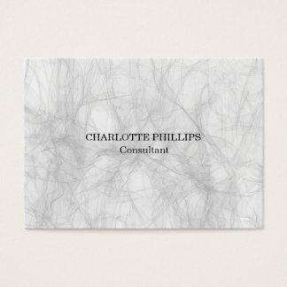 Professional Grey Minimalist Plain Modern Business Card