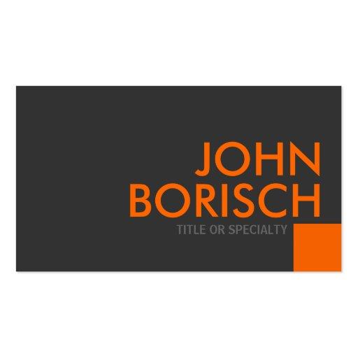 Professional Grey Orange Business Profile Card Business Card Template