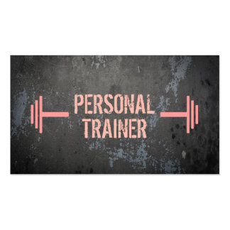 Professional Grunge Personal Trainer Business Card