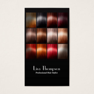Professional Hair Stylist Beauty Studio Salon Card