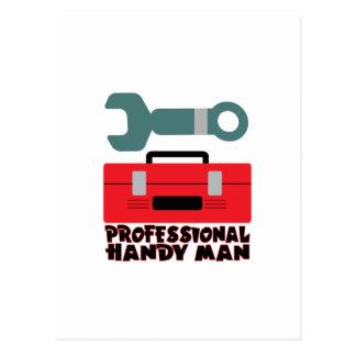 Professional Handy Man Postcard
