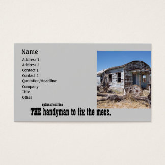 Professional Handyman Mr. Fix It Business Card