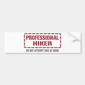Professional Hiker Bumper Sticker