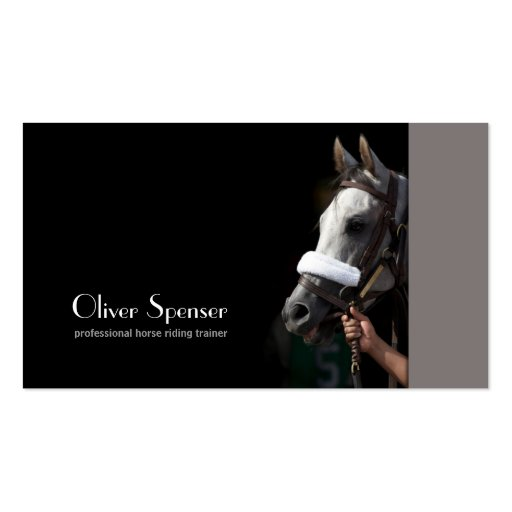 Professional horseback riding trainer card pack of for Horse trainer business cards