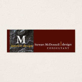 Professional interior design profile card
