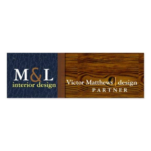 Professional interior design profile card business cards