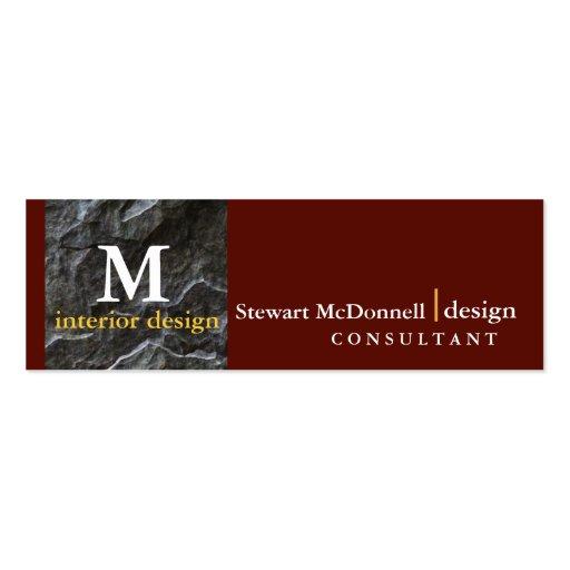 Professional interior design profile card business card