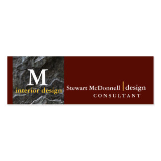 Professional interior design profile card pack of skinny business cards