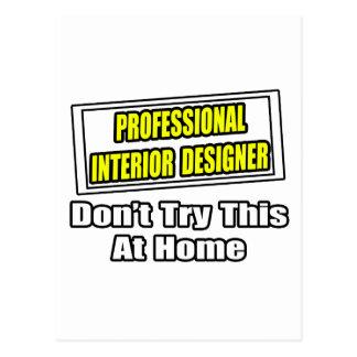 Professional Interior Designer...Joke Postcard