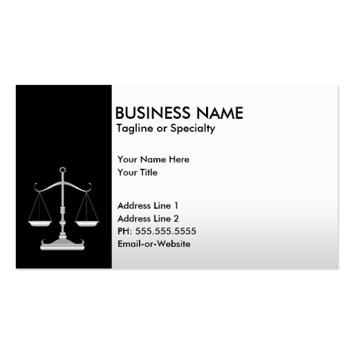 professional justice pack of standard business cards