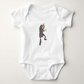 Professional Killer Dangerous Criminal Outlined Baby Bodysuit