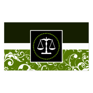 professional law : damask justice scales pack of standard business cards