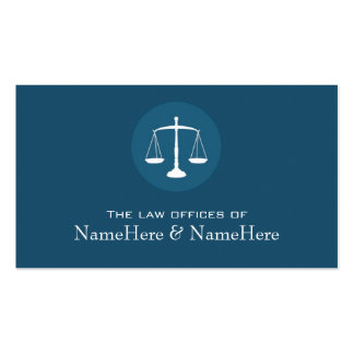 Professional Lawyer Business Card in Blue