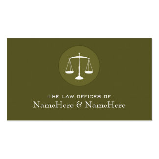 Professional Lawyer Business Card in Green