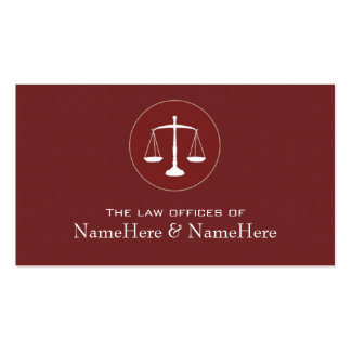 Professional Lawyer Business Card in Red