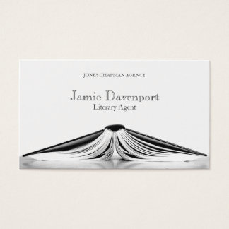 Professional Literary Agent Book Business Card