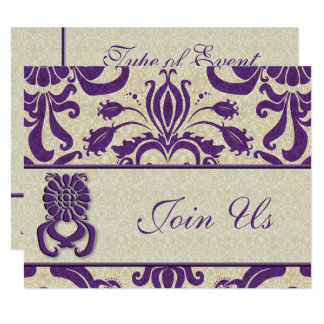 Professional Logo Business Amethyst Swirls Purple Card
