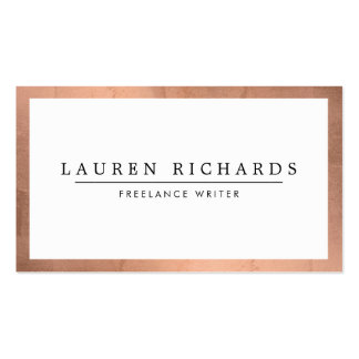 Professional Luxe Rose Gold and White Pack Of Standard Business Cards