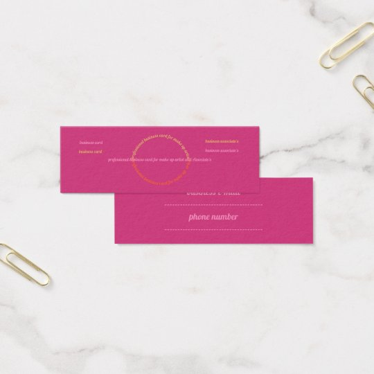 professional make up business card