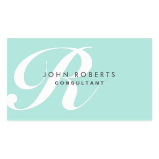 Professional Makeup Artist Elegant Monogram Blue Business Cards