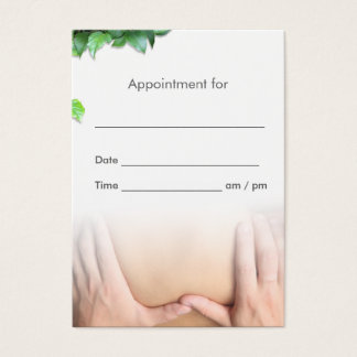 Professional Massage Therapy Salon Appointment Business Card