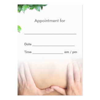 Professional Massage Therapy Salon Appointment Pack Of Chubby Business Cards