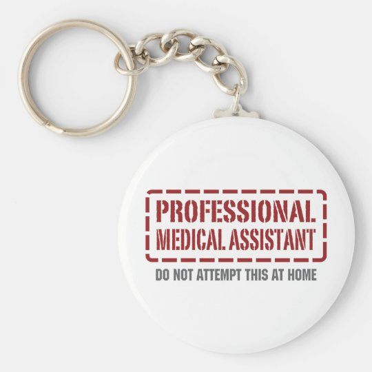 Professional Medical Assistant Basic Round Button Key Ring
