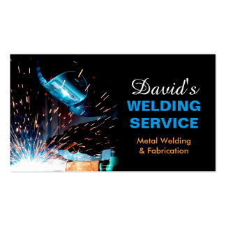 Professional Metal Welding Fabrication Contractor Pack Of Standard Business Cards