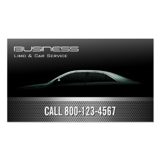 Professional Metallic Limo & Taxi Service Pack Of Standard Business Cards