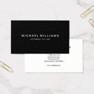 Professional Minimalist Modern Black Business Card