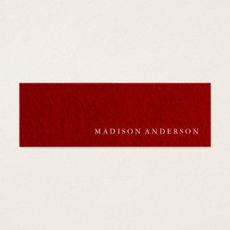 Professional Minimalist Modern Red Mini Mini Business Card