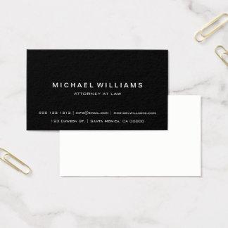Professional Minimalist Modern Simple Black Business Card