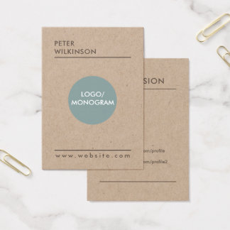 Professional minimalist style business card