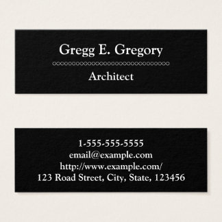 Professional & Modern Architect Business Card