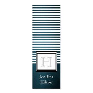 Professional modern chic stripes monogram business card templates
