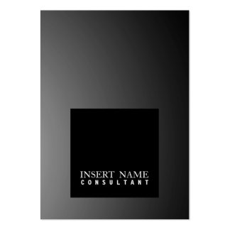 Professional Modern Elegant Black Square Smart Pack Of Chubby Business Cards