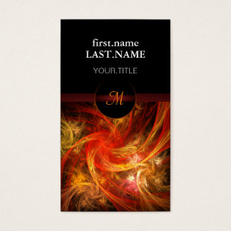 Professional Modern Elegant Cool Firestorm Business Card