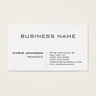 Professional modern elegant minimalist business card